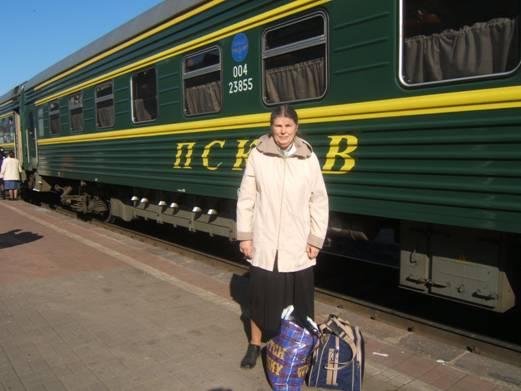 На вокзале Псков
