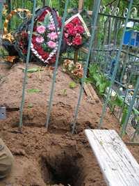 Могила на Тимофеевой горке с захоронением на небольшой глубине