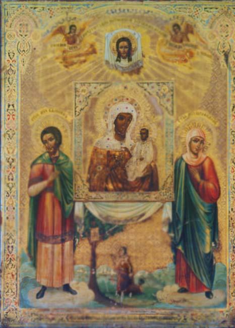 Икона П.Б. Одигитрия Святогорская список, Казанская церковь Пушкинских Гор Псковской епархии